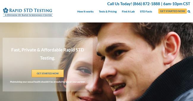 Rapid STD Testing homepage