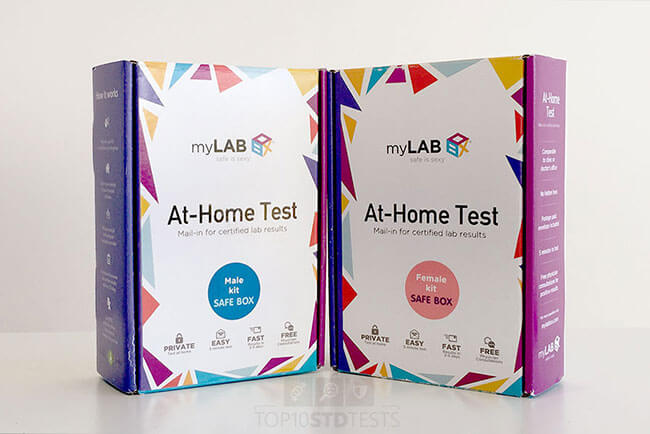 MyLab Box At Home Testing Kit box