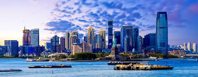 skyline of Jersey City New Jersey